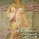 รูปปั้นเรซิ่นแต่งบ้าน สาวอวบติดปีกผีเสื้อ ทำจากเรซิ่น - VTD035