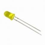 LED ขนาด 3mm สีเหลือง จำนวน 5 ดวง