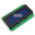 2004 LCD (Blue Screen) 20x4 LCD with backlight of the LCD screen พร้อม I2C Interface ขนาด 20 ตัวอักษร 4 แถว