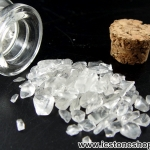 =ควอตซ์ใส (Clear Quartz)ขนาดเล็กในขวดแก้วจุกก๊อก