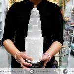 โคมไฟเซเลไนต์ Selenite ธรรมชาติทรงเจดีย์ (28cm.- 2.46Kg)