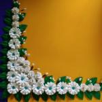 มุมบอร์ดดอกมะลิใหญ่พิเศษ(55 x 55ซ.ม.)1แพ็คมี4ชิ้น
