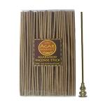 ชุดธูปแท่งญี่ปุ่น ไม้หอม ไม้กฤษณา แท้ ธูปแท่งไม้กฤษณา ก่อนกลั่นน้ำมัน Agarwood Incense Stick (Pre Oil Distillation) 200 gm+ ที่ปักธูป ที่จุดธูป ที่วางธูป 2 In 1 ทำจากทองเหลืองแท้ ทนทาน ไม่ลอก ไม่ดำ ไม่เป็นสนิม
