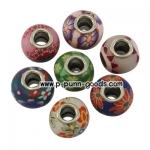 ลูกปัด Polymer Clay European Beads 15~16 มม.