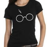 เสื้อยืด ลายแว่นตาสายฟ้า ไซส์ผู้หญิง