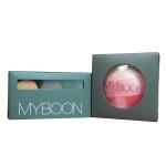 Myboon Blush Onบรัชออน แป้งปัดหน้า พร้อม ชิมเมิอร์(1กล่อง) + Myboonชุดแต่งคิ้ว ที่เขียนคิ้ว เนื้อครีม พร้อมแปรงปัดEyebrow Powder 1กล่อง