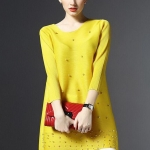 [พร้อมส่ง]เสื้อสไตล์เกาหลีดีเทล ผ้าพลีทโพลีเอสเตอร์ พิมพ์ลายผ้าสีสด คอกลมแขนยาว ทรงสวย เนื้อผ้าทิ้งตัวสวย การตัดเย็บเรียบร้อย สีสดชัด คุณภาพดีค่ะรหัส MN35