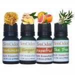 SenOdos น้ำมันหอมระเหย น้ำมันหอม อโรม่า ชุดกลิ่นสำหรับผู้หญิง2 Essential Oil Women Set2 10 ml x 4 กลิ่น (กลิ่นกำยาน, กลิ่นขิง, กลิ่นเกรปฟรุต, กลิ่นทีทรีออยด์)