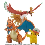 Pokemon Plamo Collection - Ho-Oh & Charizard & Ash's Pikachu Set Plastic Model(Pre-order)
