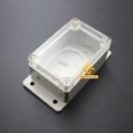 กล่องอิเล็กทรอนิกส์ อเนกประสงค์ กันน้ำ ฝาใส สีเทา 100*68*50mm