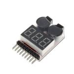 โมดูลวัดไฟ / เตือนแบต Lithium Lipo Battery Monitor + Buzzer Alarm