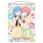 Re:ZERO -Starting Life in Another World- Wall Scroll: Rem & Ram(Pre-order)