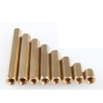 Nut Pillars M3 10mm เสาน๊อตตัวเมียทองเหลือง ขนาด 3mm ยาว 10mm จำนวน 5 ชิ้น