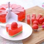 วิธีทำวุ้นแตงโม วุ้นแฟนซี : How to make Watermelon Jelly