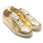 รองเท้าผ้าใบผู้ชาย Onitsuka Tiger รุ่น Mexico 66 D6G1L 9494 สีพิเศษ สีทองคาดทอง - size US M9 (EU 42.5)