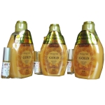 Genive เจลอาบน้ำทองคำ 24 K ผิวเนียนขาวสวยใส ลดริ้วรอย จุดด่างดำ ใน 1 สัปดาห์ Shower Gel Gold (ฟรีเซรั่ม ปลูกคิ้ว หนวด จอน) 3 ขวด