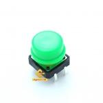 สวิตช์ ปุ่มกดติดปล่อยดับ B3F ขนาด 12 * 12 * 7.3 mm หัวสีเขียว