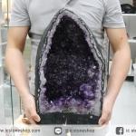 โพรงอเมทิสต์ ( Amethyst Geode) ตั้งโต๊ะ (25KG)