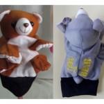 ตุ๊กตาหุ่นมือสอนคำศัพท์-หมี