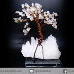 ต้นไม้มงคล หินมูนสโตน -ควอตซ์ ใช้เสริมฮวงจุ้ย โต๊ะทำงาน (373g)