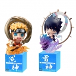 Petit Chara Land - NARUTO Shippuden: Fuujin Naruto Uzumaki & Raijin Sasuke Uchiha Set(Pre-order)