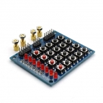 Keypad Matrix Keyboard 4x4 พร้อม Switch 4 ปุ่ม และ LED 8 ดวง