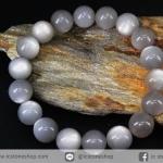 สร้อยหิน มูนสโตนสีเทา (Gray Moonstone) 12mm