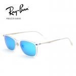 แว่นกันแดด RayBan Tech Wayfarer Light Ray Titanium RB4225 646/55 size 52 mm กรอบขาวขุ่น เลนส์ปรอทฟ้า