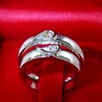 แหวนคู่เพชรแท้(ขายแล้ว)