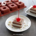 วุ้นโกโก้ นมโรงเรียน | นมสด ⓒ Cocoa Layer Jelly Cake With Milk
