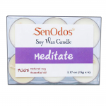 SenOdos กลิ่นมีสมาธิ เทียนหอมอโรม่า Soy Candles Aroma Meditate ขนาดพกพา ขนาดทดลอง (6 PCS.)