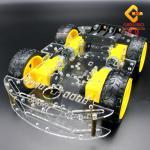 โครงรถ หุ่นยนต์ 4WD สีใส smart car chassis