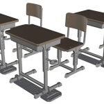 LittleArmory (LD013) Specified Defense School Desk(Pre-order)