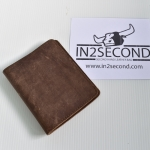NS-14 กระเป๋าสตางค์ หนังแท้ สีน้ำตาล สภาพดีมาก