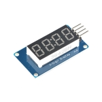 Seven Segment 4-Digit Display Tube LED Display Module With Clock Display Board For Arduino (Catalex)