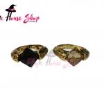 แหวน ตระกูลก๊อน (ฮอร์ครักซ์) สีดำและสีขาว