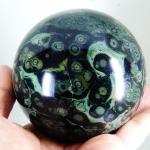 คัมบาบา แจสเปอร์ Kambaba jasper ทรงบอลมีลายรูปเลข 8- 9.4 cm