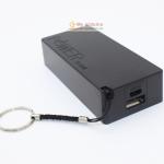 Power Bank แหล่งจ่ายไฟสำหรับ Arduino ESp8266 ชาร์จไฟผ่าน USB ถ่าน 18650 2 ก้อน สีดำ