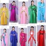 唐装汉服古装 Tang Dynasty Women's Costumes ชุดเสื้อกระโปรงสตรีสมัยราชวงศ์ถัง