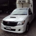 รถกระบะห้องเย็นตู้มาตรฐาน Toyota Hilux Vigo ปี 2013 เครื่องยนต์ 2.5 เกียร์ธรรมดา สีขาว