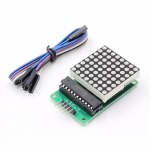 LED Matrix Driver MAX7219 IC Driver Module + LED Dot Matrix 8x8 ขนาด 40mm x 40mm พร้อมสายไฟ
