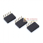 Female Pin Header 90 degree Dip Straight Single Row 2.54mm 1*5Pin