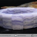 สร้อยหิน บลู เลซ อาเกต (Blue Lace Agate) 13x18mm.