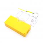 Power Bank แหล่งจ่ายไฟสำหรับ Arduino ESp8266 ชาร์จไฟผ่าน USB ถ่าน 18650 2 ก้อน สีเหลือง