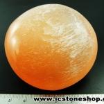 เซเลไนต์สีส้ม ( Orange Selenite) ขัดมัน ทรงสบู่ (131g)