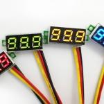 ดิจิตอล โวลต์มิเตอร์ 0 ถึง100 โวลต์ จอขนาด 0.28 นิ้ว สีเขียว Mini 3 Digital LED DC 0 -100 Volt