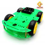 โครงรถ หุ่นยนต์ 4WD สีเขียว smart car chassis