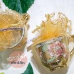 ขอบคุณนะคะ คุณครูจินตนา งานเกษียณอายุราชการ 300 ชิ้นค่ะ #ของชำร่วยแก้วเบญจรงค์ห่อผ้าทอง