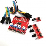Tracking Sensor 4 Channal for Smart Car เซนเซอร์ตรวจจับเส้น ขาว ดำ 4 จุดแยกอิสระ