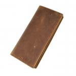 GT-8030 B กระเป๋าสตางค์ใบยาว หนังนูบัค สีน้ำตาล